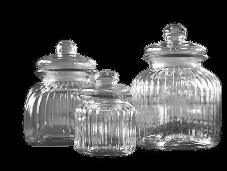 Glass, Glass Jar With Lid, Transparent, Storage