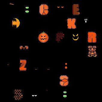 Halloween, Alphabet, Scrapbooking, Alpha, Scrapbook