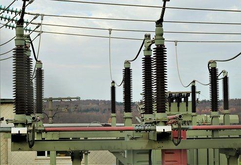 Substation, Insulators, Lines, Power Supply