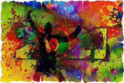 Man, Silhouette, Joy, New Year's, Year, Joyful Leap