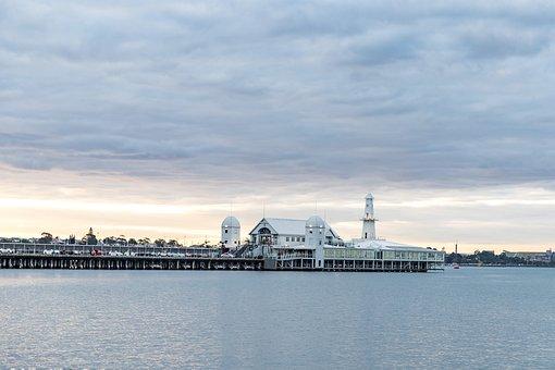 Geelong, Australia, Waterfront, Cunningham Pier, Light