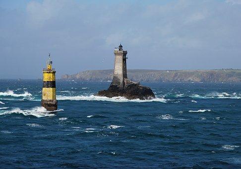 Lighthouse, Sea, Ocean, Towers, Waves, Water, Scenery