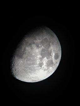Moon, Night, Sky, Space, Lunar, Cosmos, Satellite