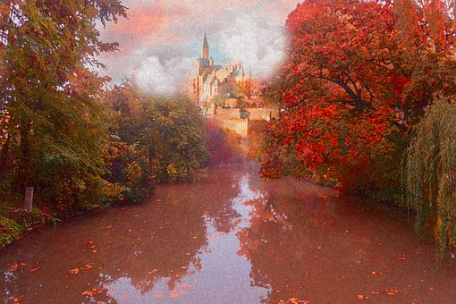 Forest, Nature, Landscape, Autumn, Trees, Fall, River