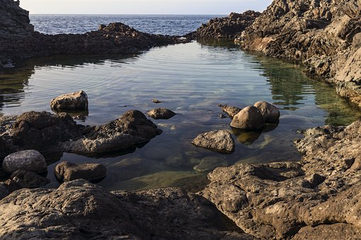 Lake, Rocks, Coast, Shore, Island, Pantelleria, Italy