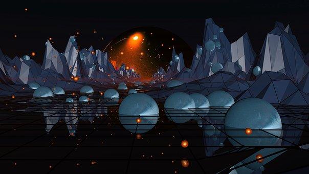 Planetarium, Building, Structure, Stars, Light, Space