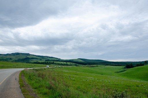 Road, Field, Countryside, Roadway, Meadow, Grassland