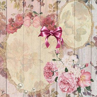 Scrapbook, Roses, Rose, Flowers, Creative, Tinkering