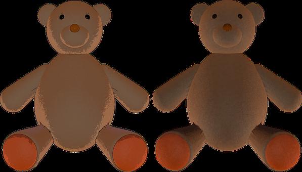 Teddy Bears, Stuffed Animal, Bears, Toy, Childhood
