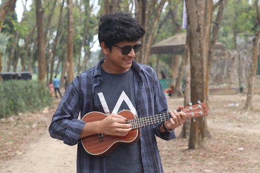 Profile, Ukulele, Ukulele Bangladesh, Man With Ukulele