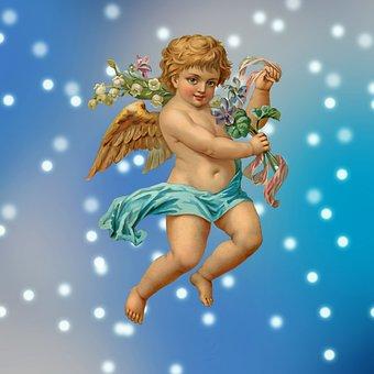 Angel, Wings, Celestial, Religious, Sky, Praying, Pray