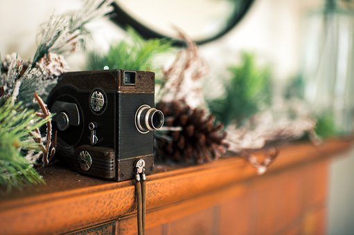 Camera, Lens, Decoration, Interior, Christmas, Tree