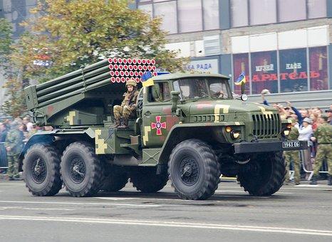 Parade, Military, Ukrainian, Capital, Kyiv, Grad