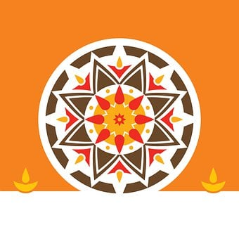 Rangoli, Art, Diwali, Template, Design, Greeting