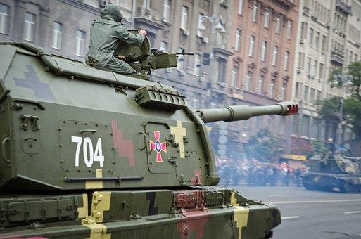 Parade, Military, Ukrainian, Howitzer, Capital, Kyiv