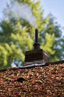Chimney, Roof, Building, House, Home, Leaves, Autumn