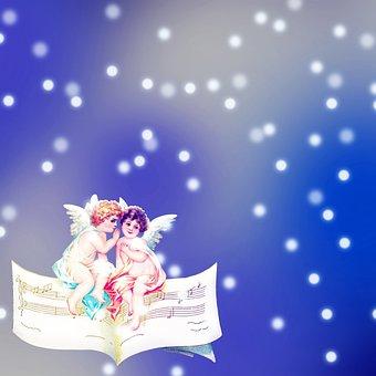 Angels, Wings, Musical Notes, Sky, Praying, Pray