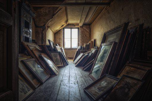 Attic, Room, Window, Artwork, Paintings, Wall Art