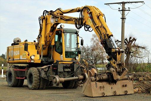 Rail Excavator, Excavator, Machinery