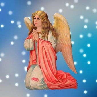 Angel, Wings, Praying, Sky, Pray, Religious, Rebirth