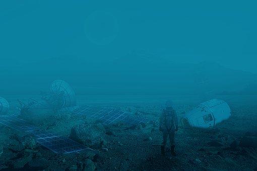 Space, Foggy, Fantasy, Landscape, Sci-fi, Alien