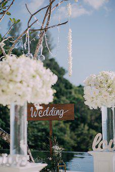 Wedding, Decoration, Flowers, Sign, Table Setting