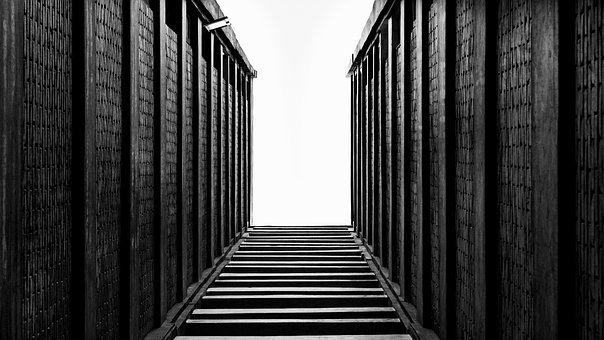 Stairway, Walls, Abstract, Empty, Texture, Pattern