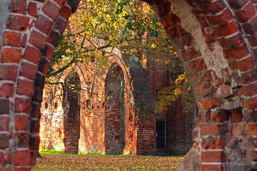 Archway, Brick, Ruin, Red Bricks, Red Brick Wall