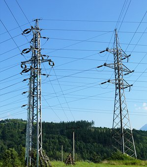 Pylons, Transmission Towers, Cables, Wires