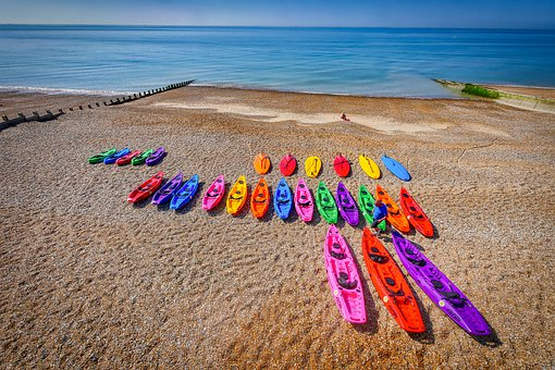 Boat Rental, Canoes, Beach, Hastings, England, Water