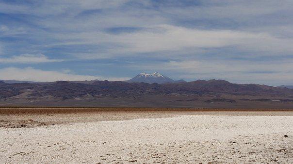 Desert, Atacama, Chile, Sand, Dry, Landscape