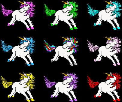 Unicorns, Fairy Tale, Fantasy, Creature, Animal, Cute