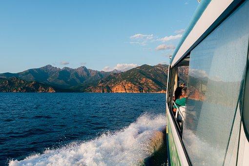Ferry, Cruising, Sea, Boat, Travel, Trip, Ocean, Island