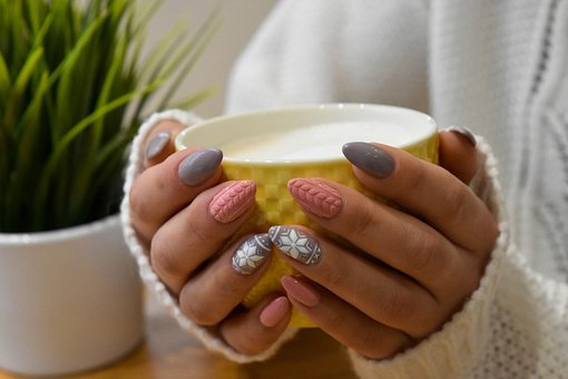 Nails, Hands, Cup, Hold, Holding, Sweater, Knitted