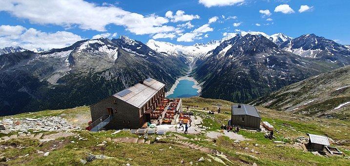 Mountains, Resort, Mountain Resort, Alps, Alpine, Lake