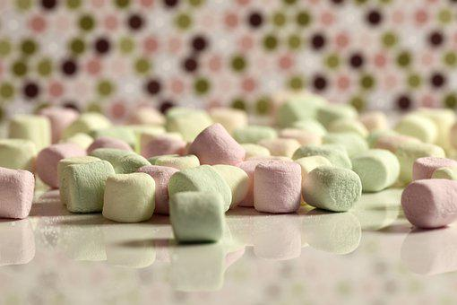 Marshmallows, Confectionery, Food, Dessert, Candy