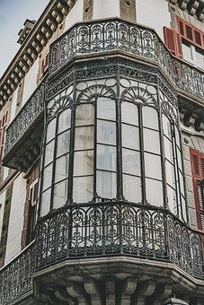 Window, Crystals, Old, Gran Canaria, Las Palmas