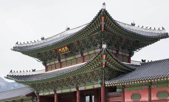 Palace, Roof, Building, Traditional, South Korea, Seoul