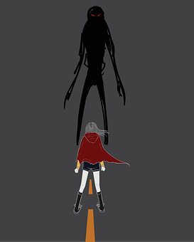 Person, Man, Creature, Silhouette, Courage, Fear