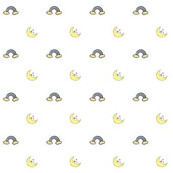 Stars, Moon, Rainbows, Doodle, Colorful, Shape, Fantasy