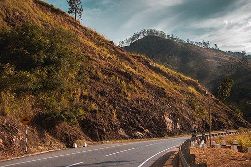 Road, Mountain, Landscape, Pavement, Roadway, Summit