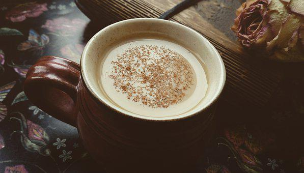 Coffee, Roses, Aroma, Love, Beauty, Romantic, Autumn