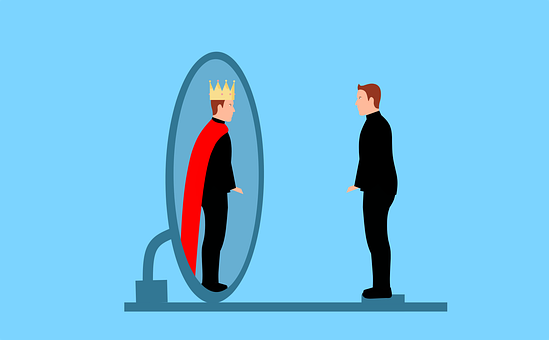 Man, Mirror, King, Royal, Reflection, Hero, Confidence