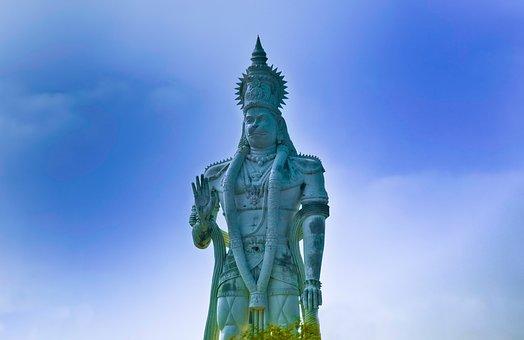 Hanuman, God, Statue, Tall, India, Sculpture, Hindu
