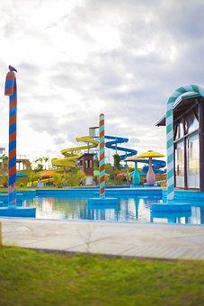 Waterpark, Slides, Pool, Fun, Aqua, Water, Splash, Rain
