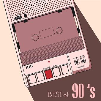 Tape, Cassette, Walkman, Best, 90s, Label, Poster