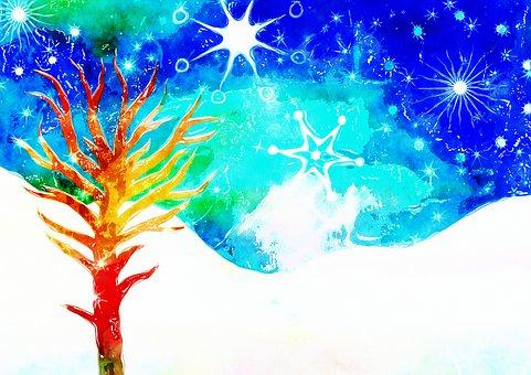 Tree, Snow, Winter, Scene, Frozen, Sky, Landscape