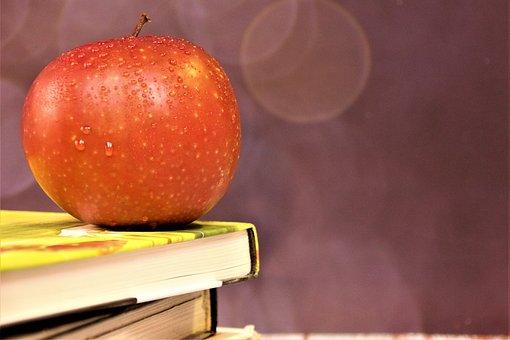Apple, Books, Still Life, Fruit, Food, Red Apple, Fresh