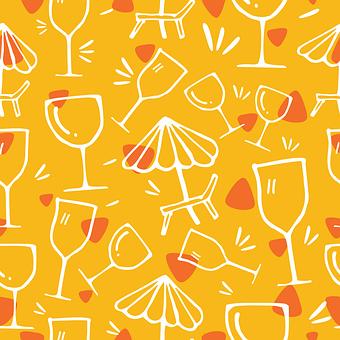Glasses, Glassware, Beach Chair, Beach Umbrella