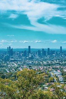 Buildings, Skyline, Urban, Modern, City, View, Brisbane